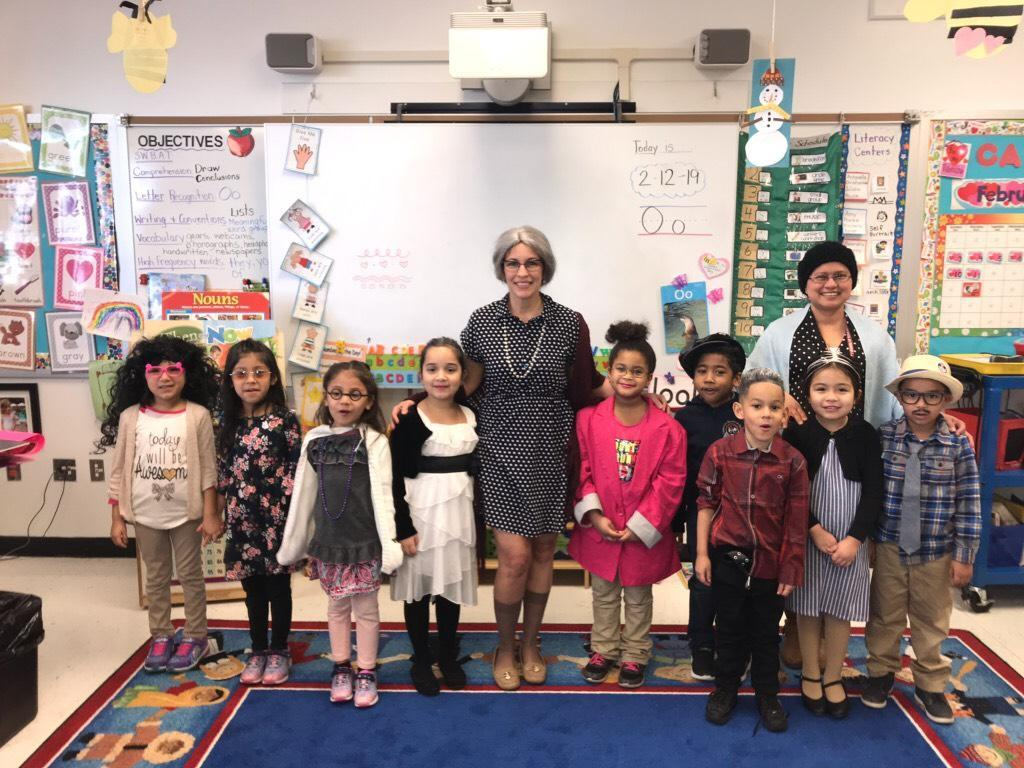 Mrs. Rivera's class dressed as old people