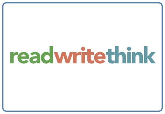 Read Write Think in light green, red, and blue letters