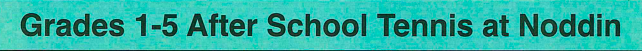 After School Tennis Logo