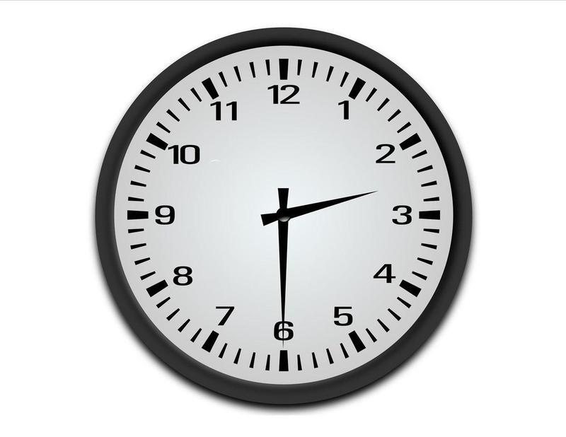 clock showing 2:30