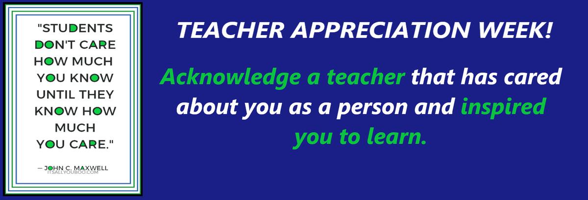 Teacher Appreciation Week 2020 - Highland High School