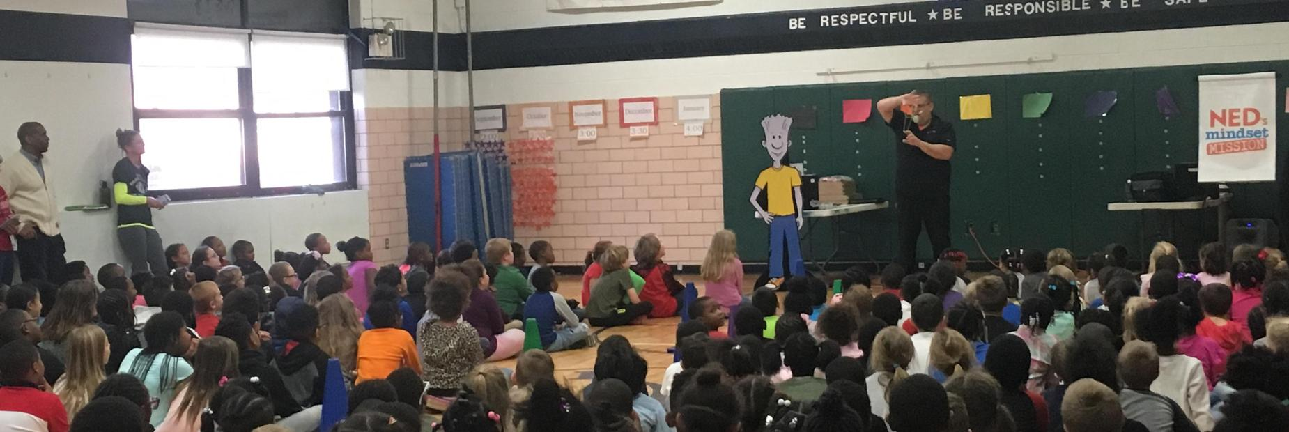 The NED show assembly taught students to have a mindset ready to learn!