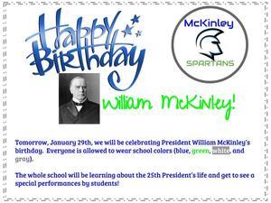 happy birthday mckinley flyer