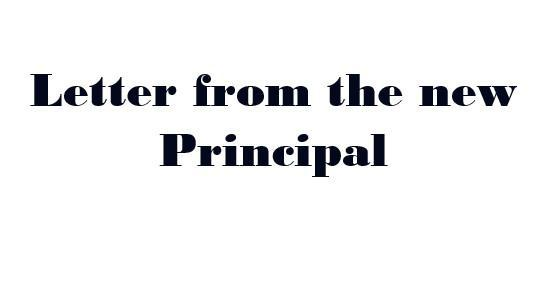 New Principal's Message Featured Photo
