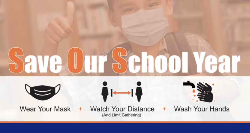 Save our school year flyer