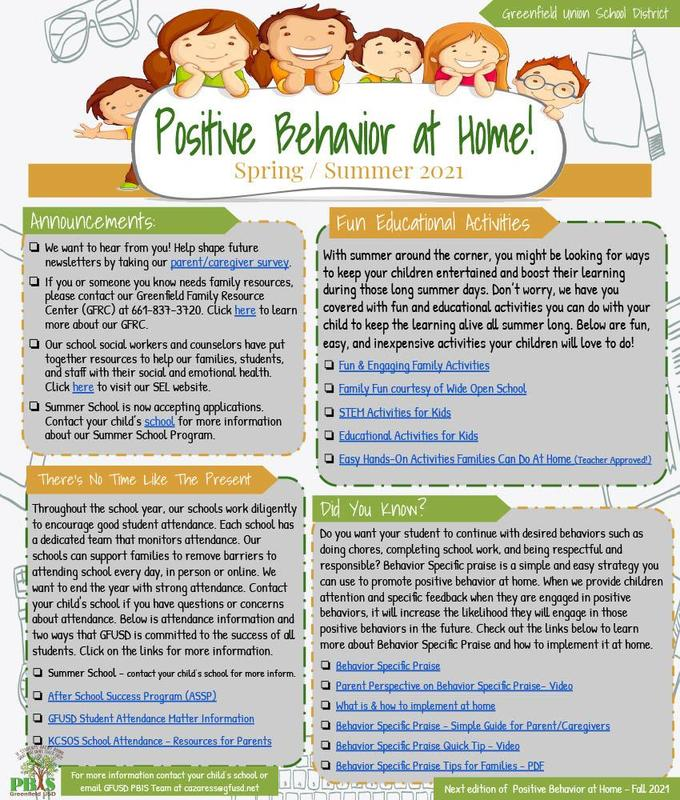 Positive Behavior at Home Thumbnail Image
