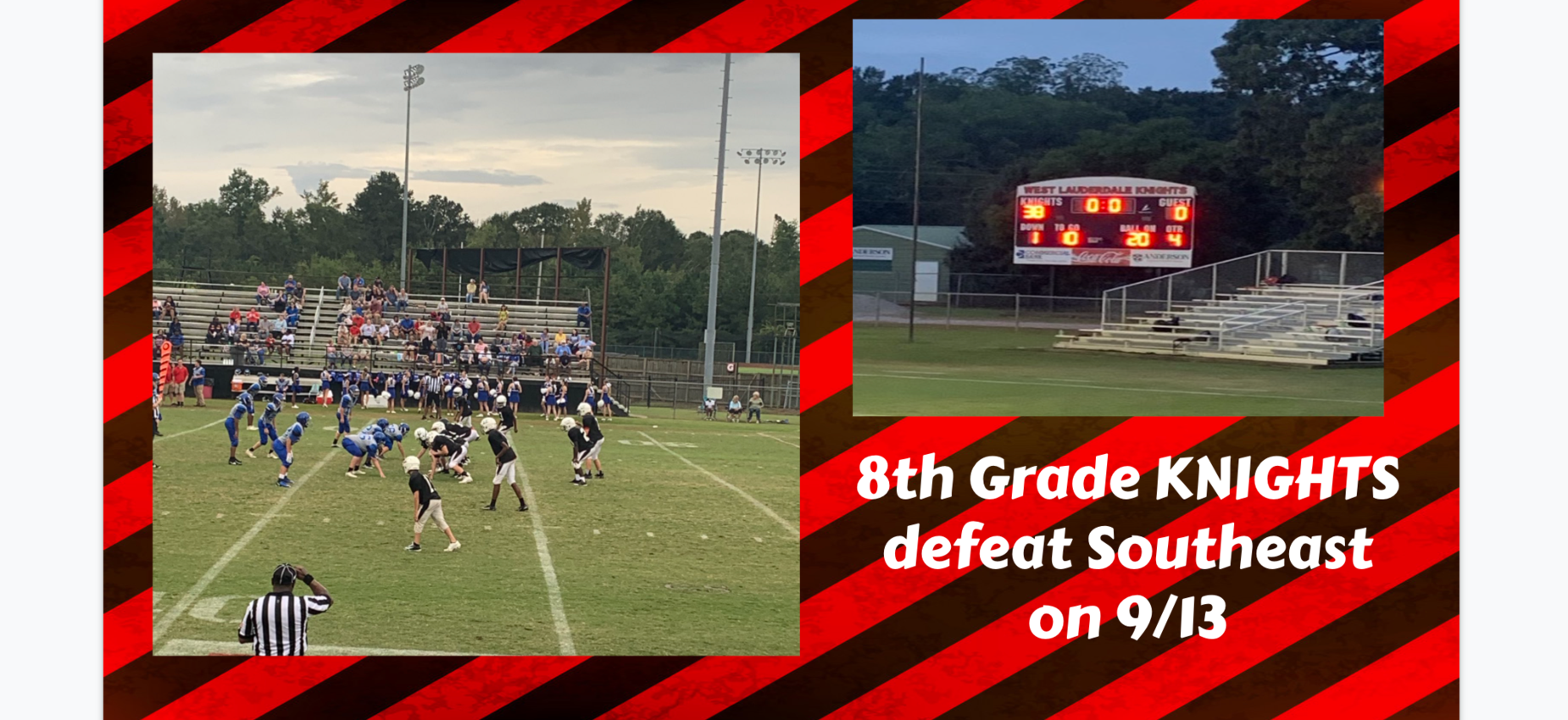 8th grade Knights defeat Southeast in football