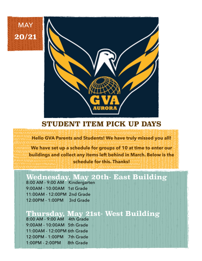 flyer for pick up day