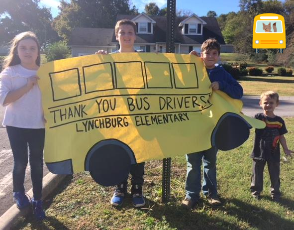 Thank you, Bus Drivers