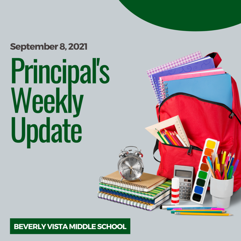 Principal's Weekly Message - September 8, 2021 Featured Photo