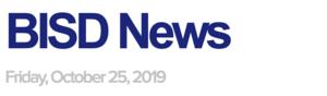 BISD News: 10/25/19