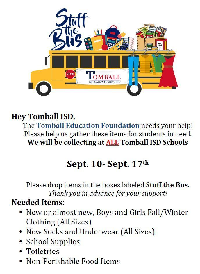 Stuff the Bus to Help TISD Students in Need!