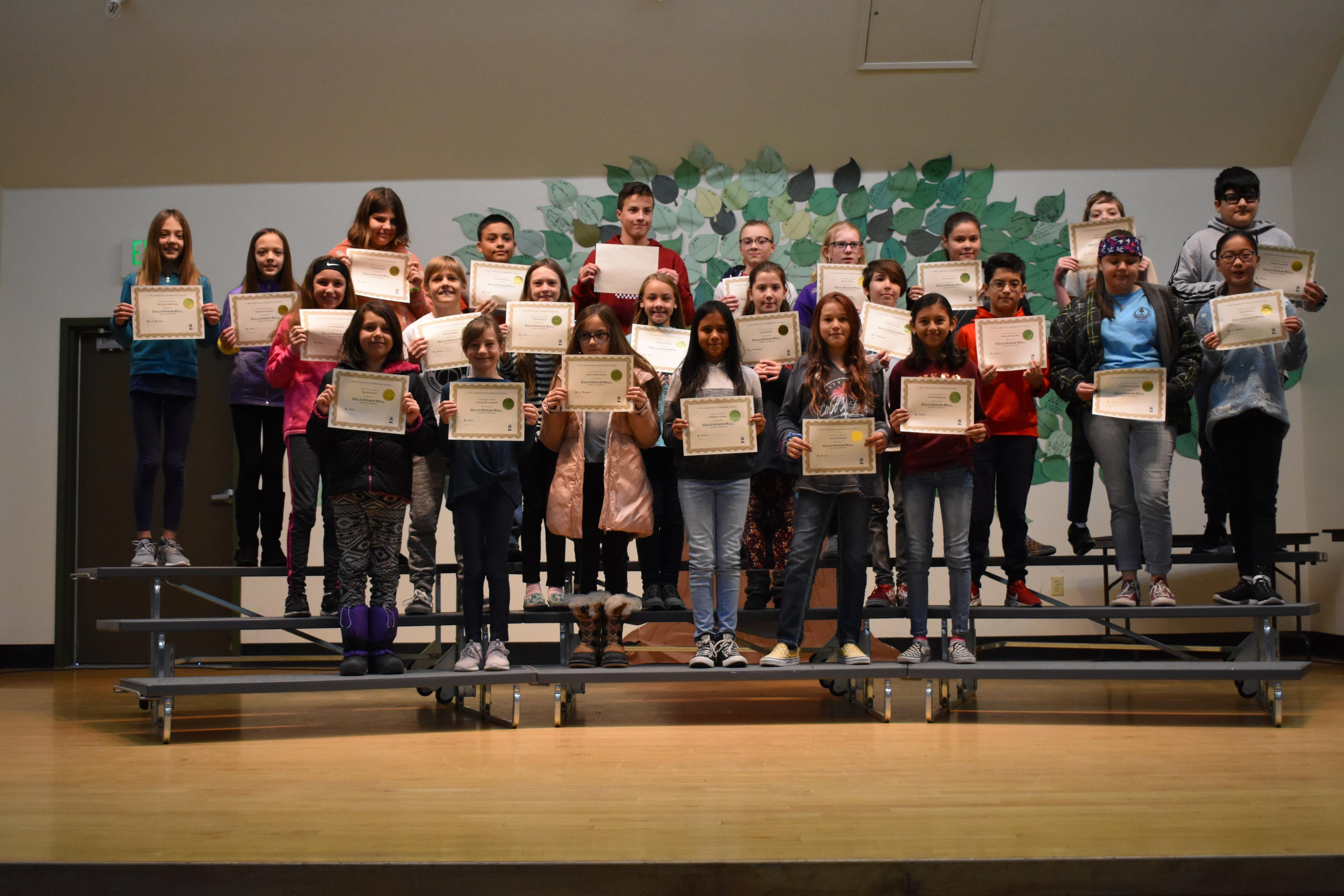 Gold Honor Roll students