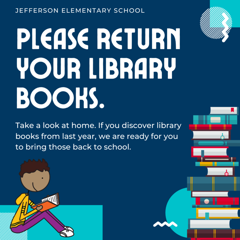 Please return your past due library books, even if they are from last year.