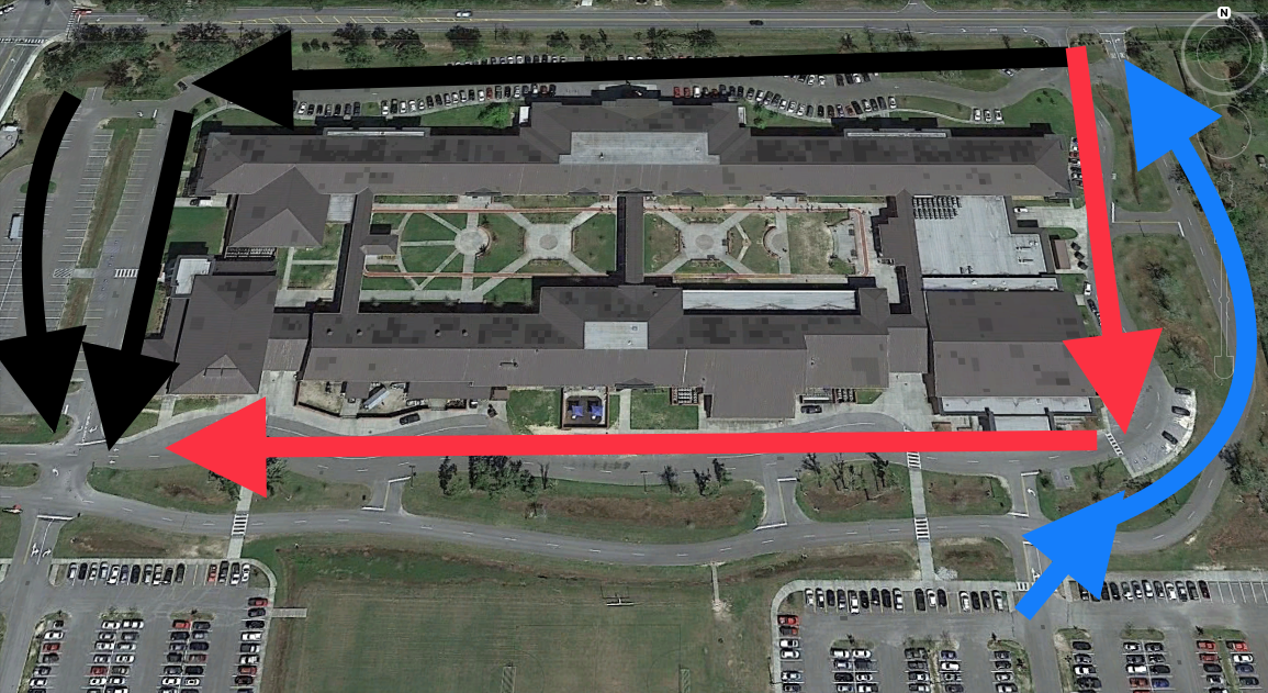 Student Pickup Map