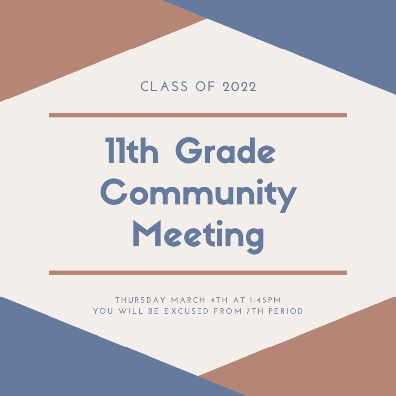 11th Grade Community Meeting Featured Photo