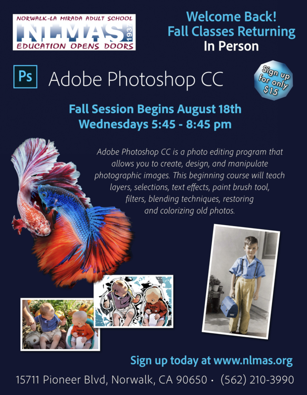 Photoshop Class Returns This Fall! Featured Photo