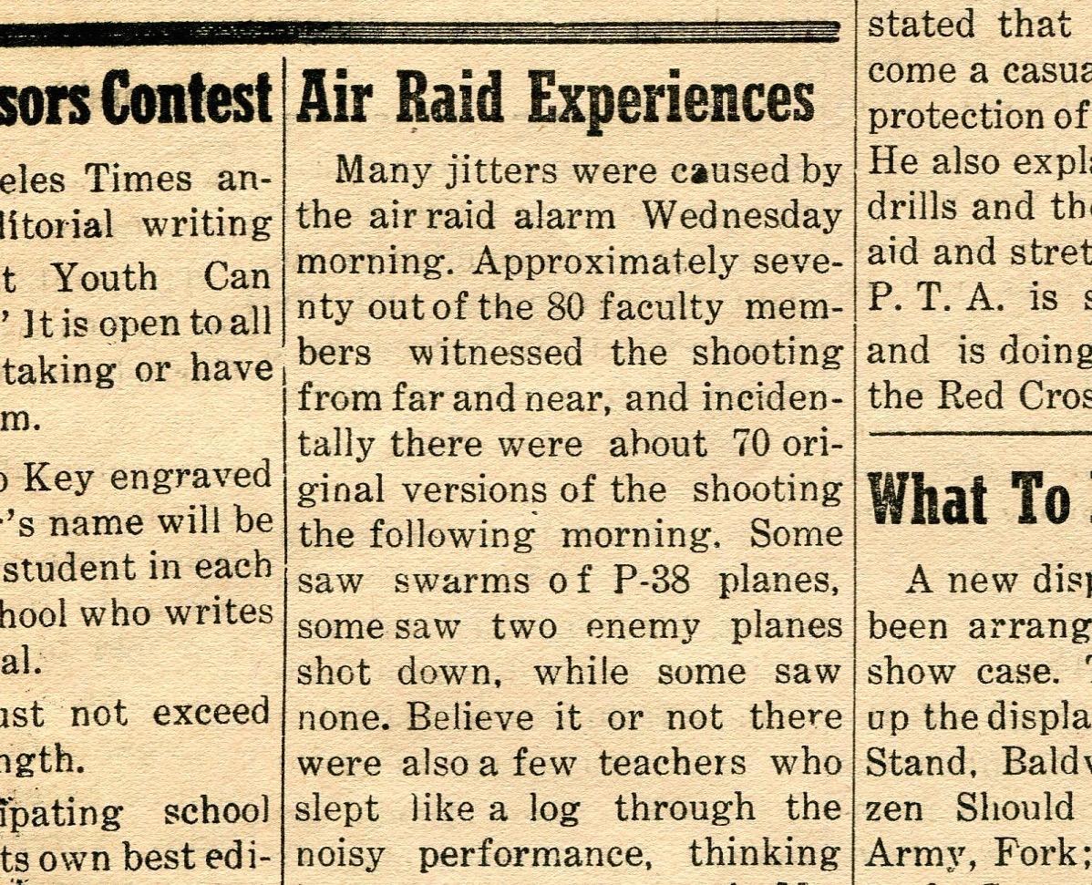 Air raid defense