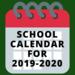 2019-20 School Calendar Picture