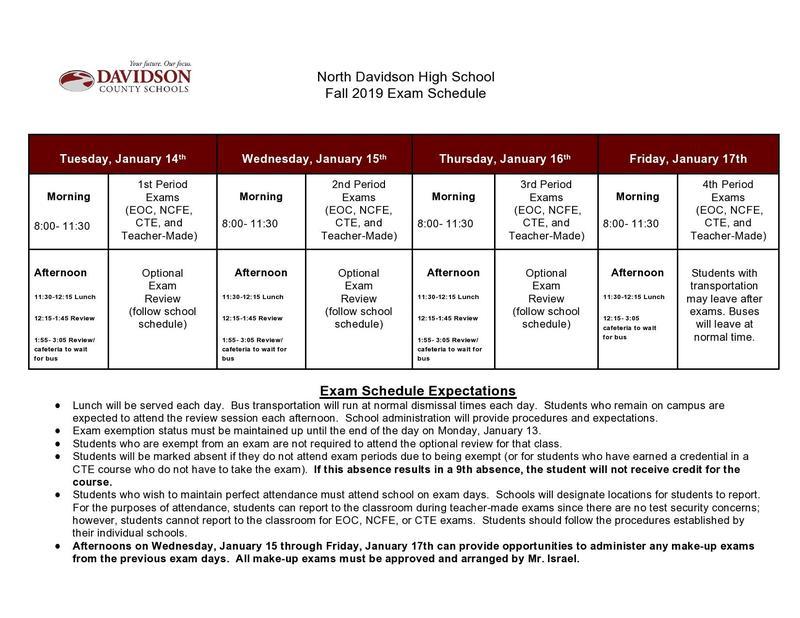 Exam Schedule Featured Photo