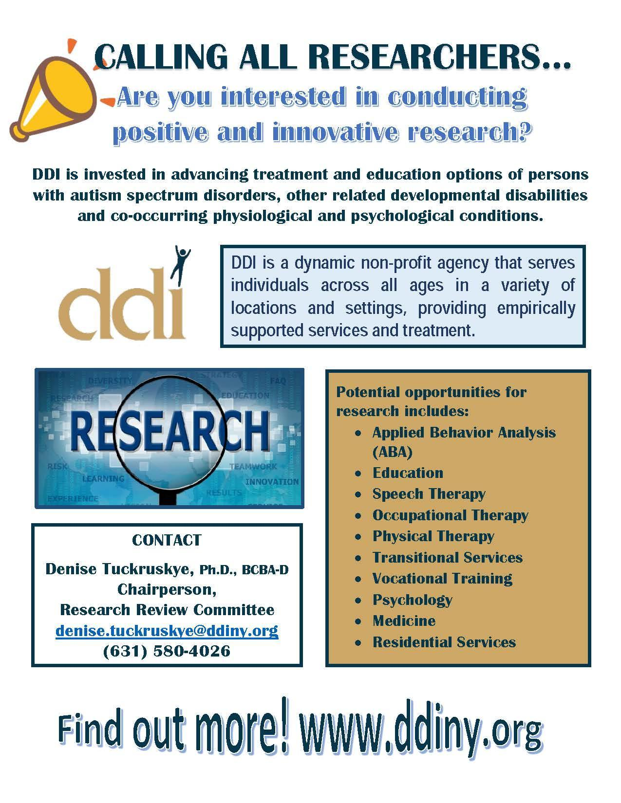 Calling All Researchers