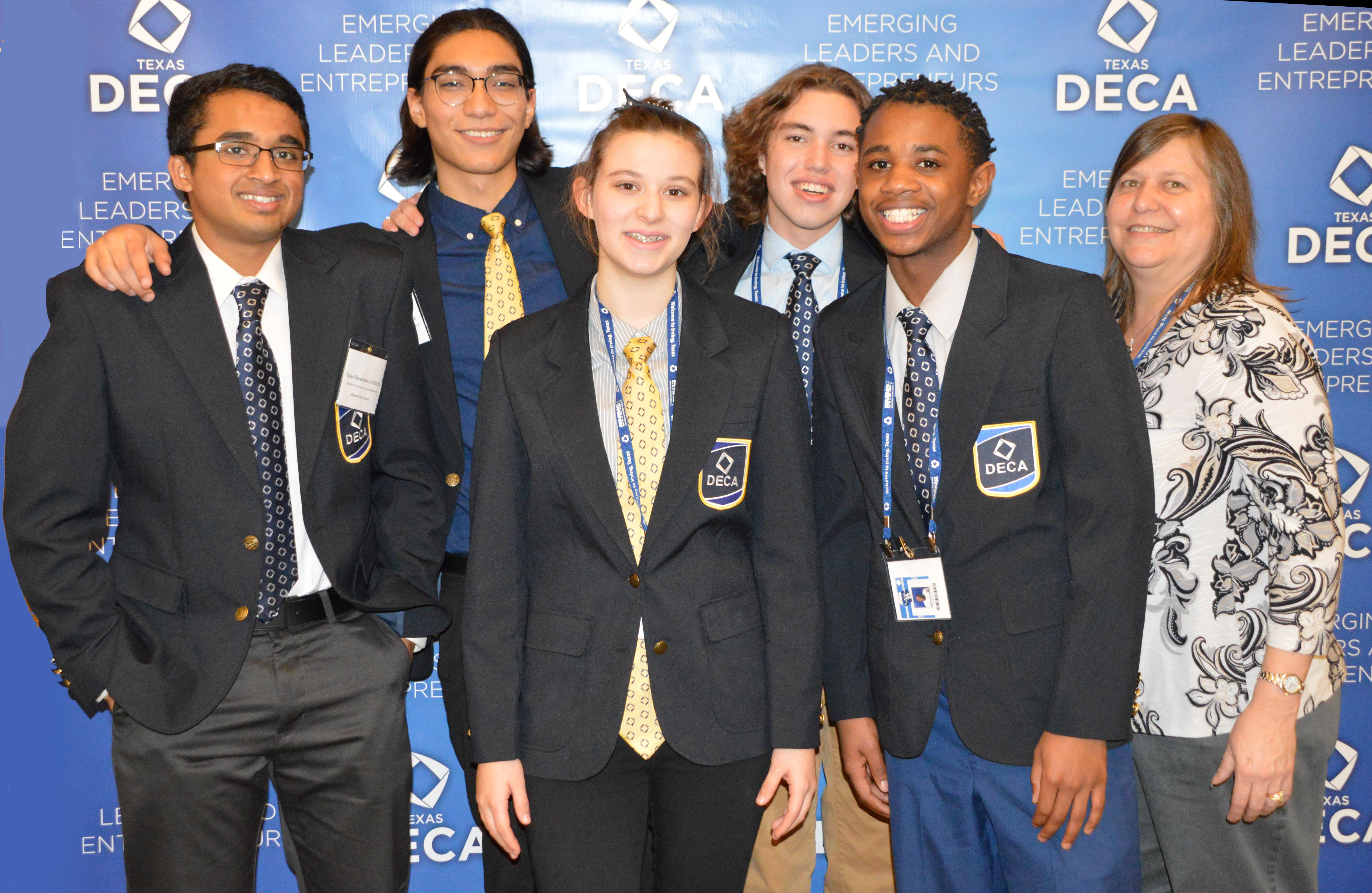 Three Brewer DECA Students Advance to State Competition