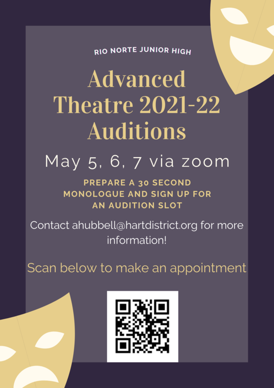 Poster of RN Advanced Theater Audition Info