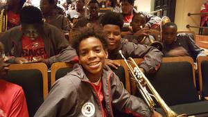 Baker Middle Band Students at the Huntington Spring Jamboree