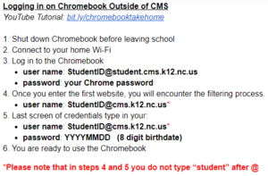 Chromebook Log In Instructions
