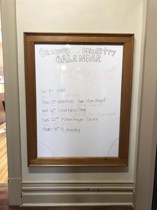 Campus Ministry weekly activities