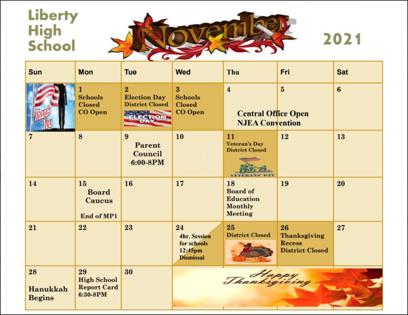 November 2021 Calendar Featured Photo