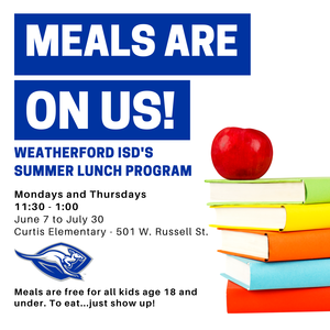 WISD SUMMER MEAL PROGRAM (Click Here for Information) Featured Photo