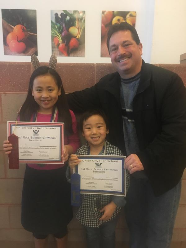 celebrano and two students