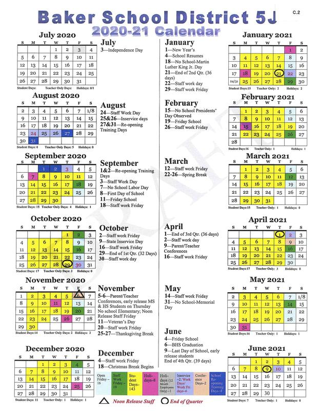 District Calendar Proposed start date
