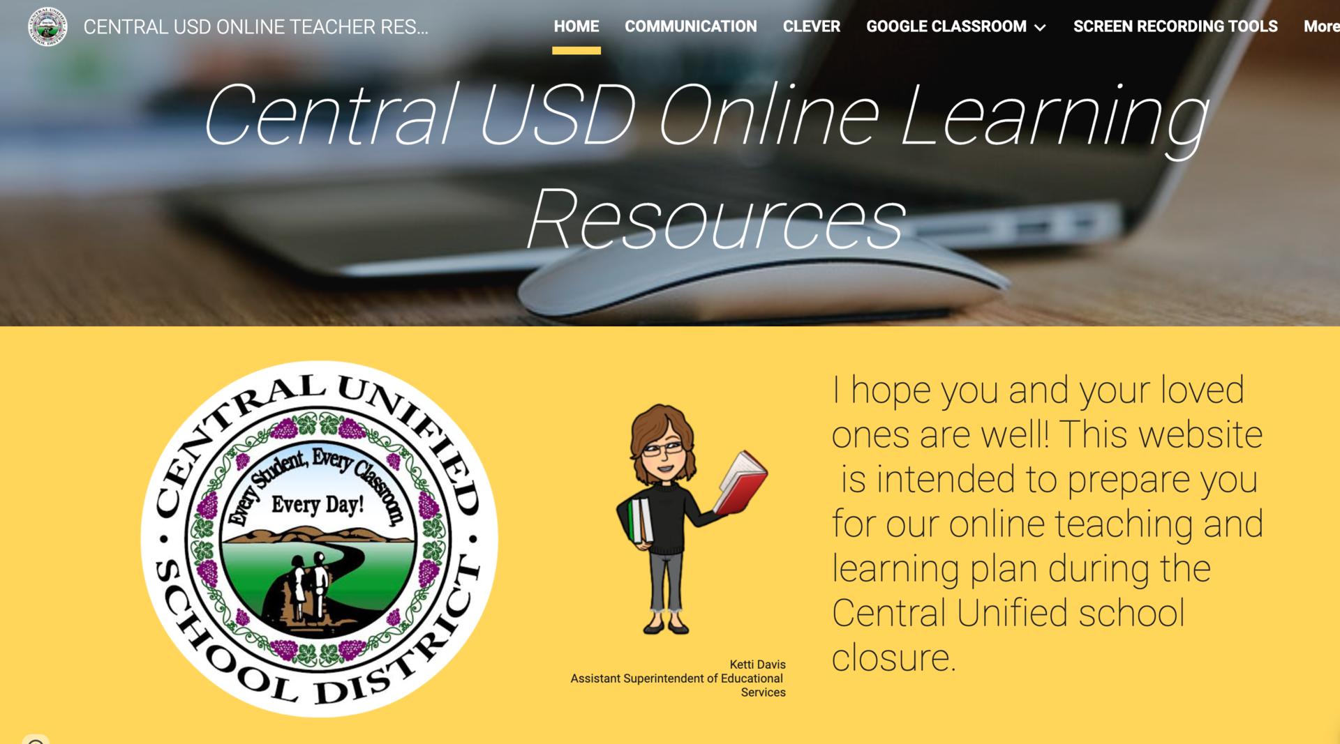 Homepage of Teacher Support Website