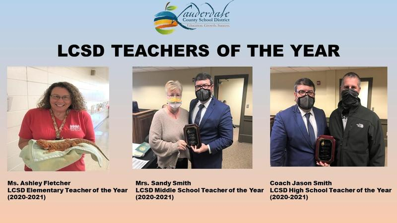 LCSD 2020 Teachers of the Year Honorees
