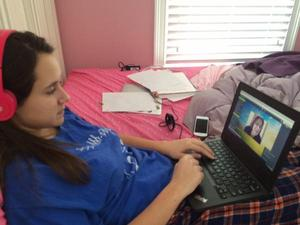 Online school day