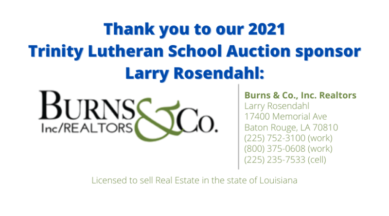 Thank you to our 2021 Auction Sponsor - Larry Rosendahl Featured Photo
