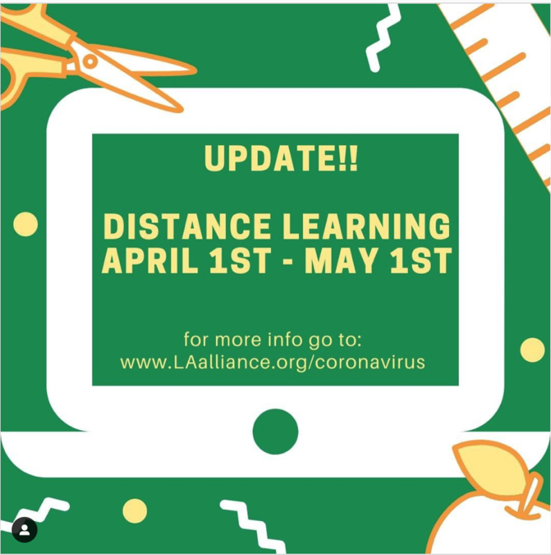Update!! Distance Learning April 1st - May 1st Thumbnail Image