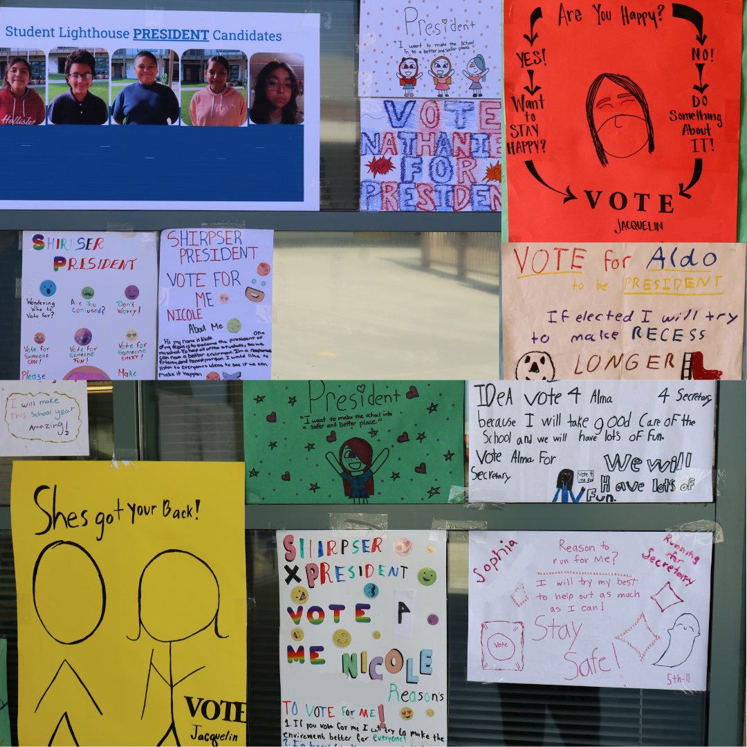 Photo of Shirpser student leadership posters