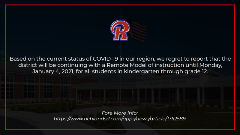 COVID-19 Update - Message from the Superintendent 12/9/20 Featured Photo