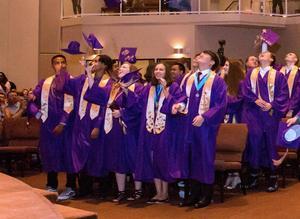 2018 Graduates celebrate at the ceremony