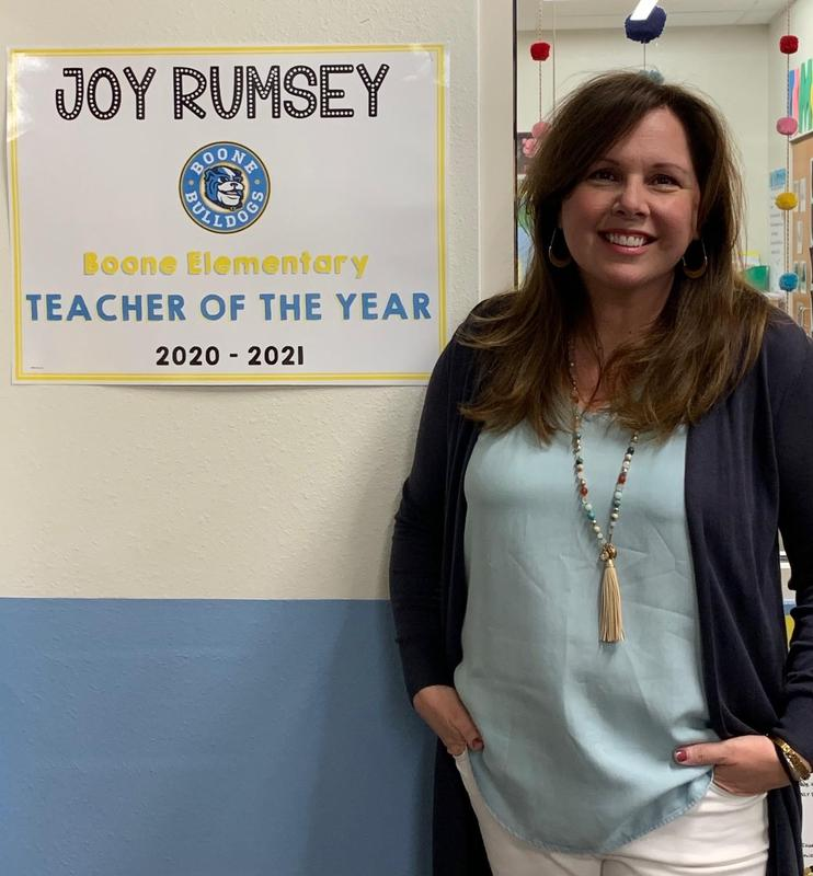 Congratulations to Joy Rumsey, our first Boone Teacher of the Year! Featured Photo