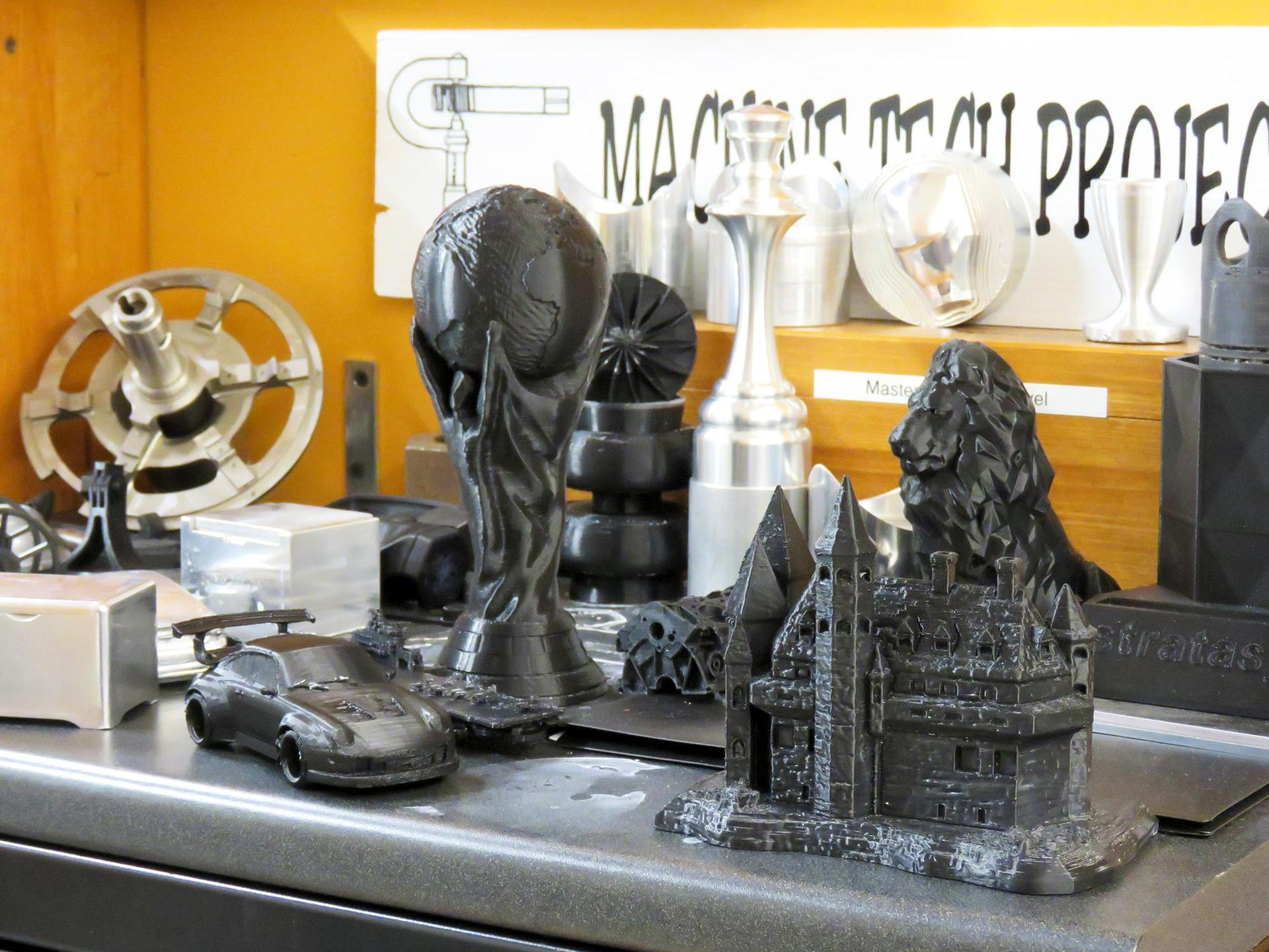 Items made by students using a 3D printer