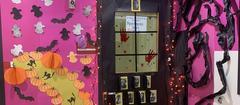 Our Halloween door decoration winners!