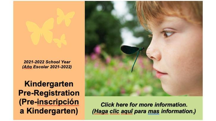Kindergarten Pre-registration 2021-22 (Pre- inscripción  a Kindergarten) Thumbnail Image