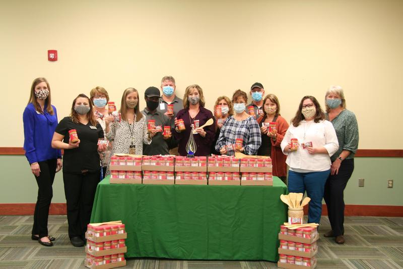GCSS nutrition staff with Georgia Peanut Commission representatives.