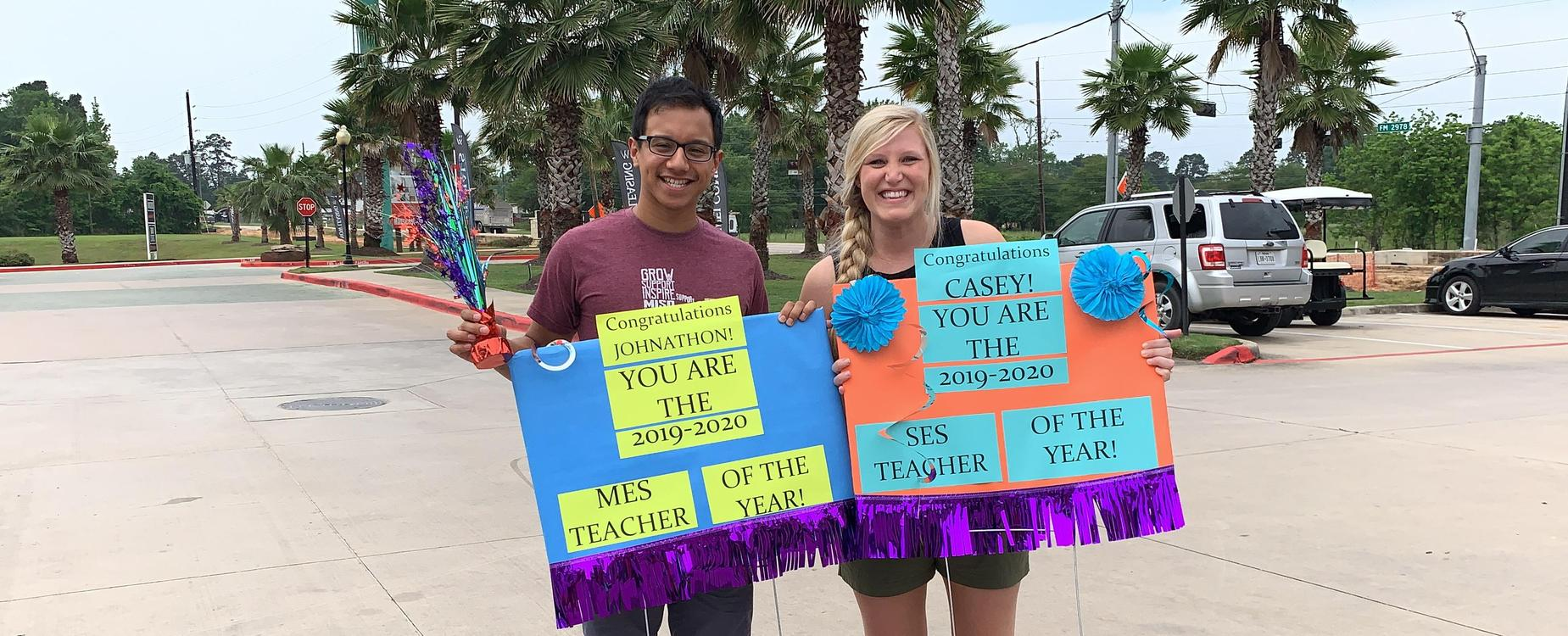 Mr. and Mrs. Molina, Teachers of the Year