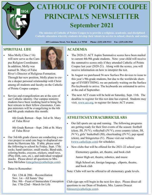 Principal's Newsletter Featured Photo