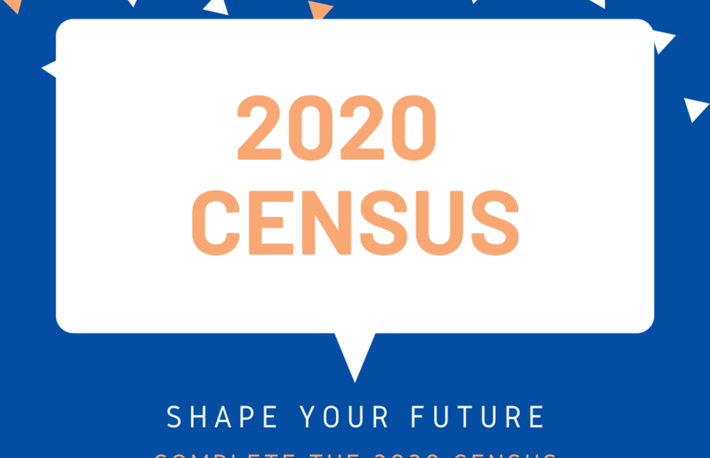 Sign states that reader should participate in the 2020 census